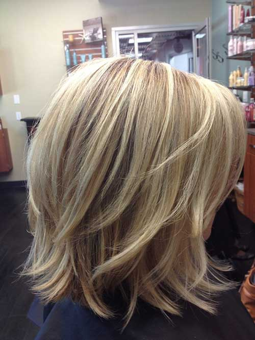 Short Shoulder Length Layered Bob Haircut