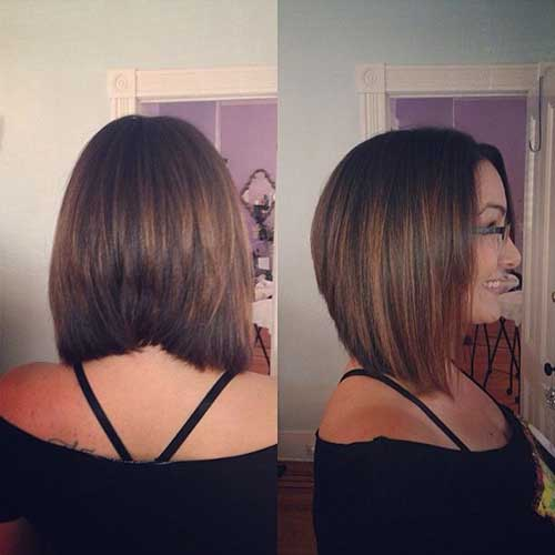 Short Shoulder Length Line Haircut
