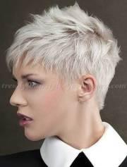 pretty ladies trendy short hairstyles