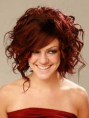 cool short red curly hair