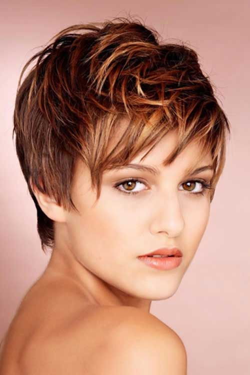 Short Layered Haircut for Pixie Look