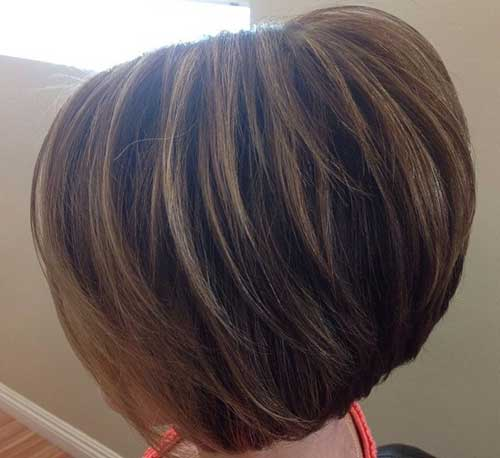 New Trendy Short Haircut - Stacked Bob