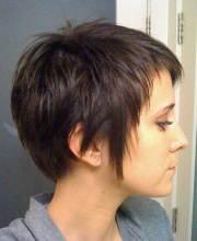 short haircuts thick straight
