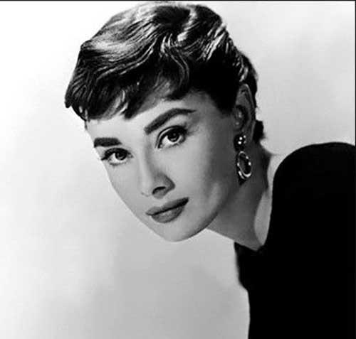Audrey Hepburn Wavy Pixie Cuts
