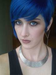 blue pixie cut short hairstyles