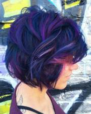 short colored hair ideas with
