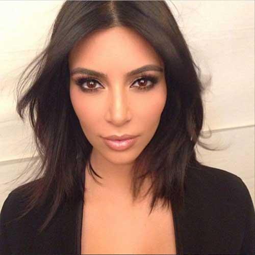 Kim Kardashian Short Straight Hair