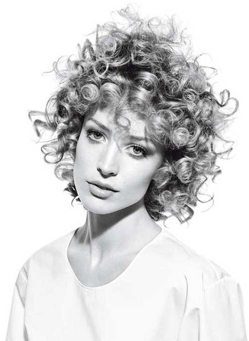 Short Curly White Hairstyles