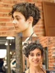 pixie cut curly hair