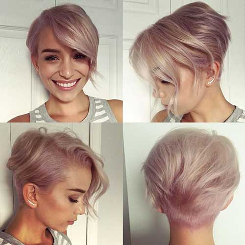 Chic Short Hair Ideas For Round Faces Short Hairstyles 2016
