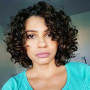 cool short naturally curly