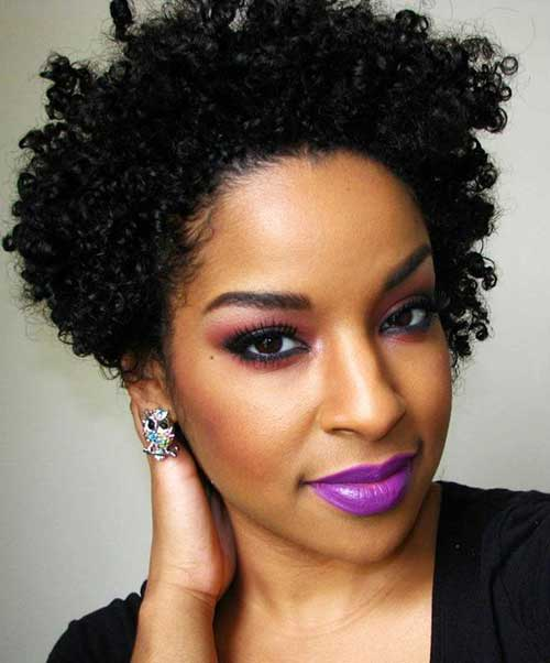 25 Short Curly Afro Hairstyles  Short Hairstyles 2017  2018  Most Popular Short Hairstyles