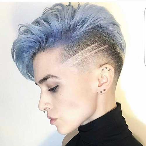 Eye Catching Blue Hair Color Ideas On Short Hair Short