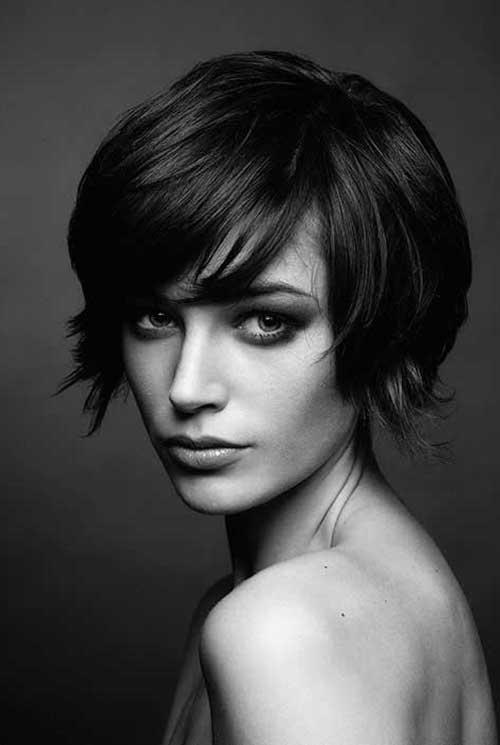 30 Super Short Haircuts With Bangs Short Hairstyles