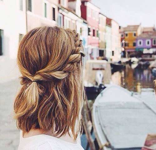 25 Cute And Easy Hairstyles For Short Hair  Short