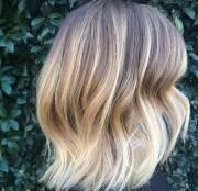 long bob ombre hair short