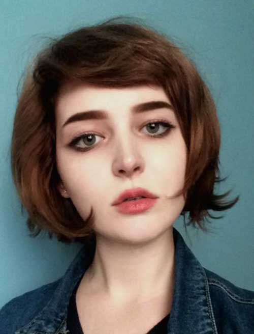 Inspiring Short Haircuts For Round Faces