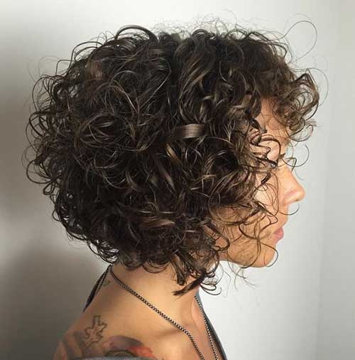 Short Curly Hairstyle