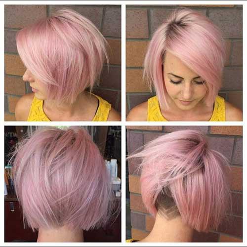 12 Pale Pink Short Hairstyles - crazyforus