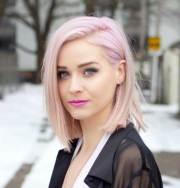 style pale pink short hair