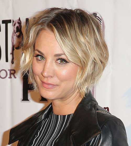 Kaley Cuoco Blonde Short Hairstyle