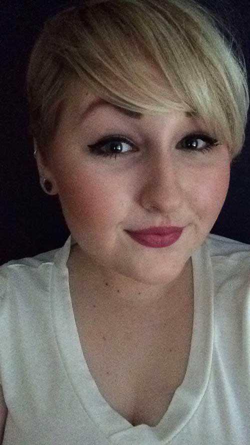 Chubby short hair blonde