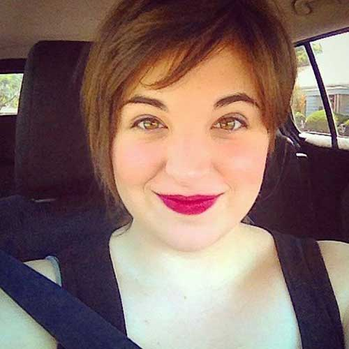 25 Pretty Short Haircuts For Chubby Round Face
