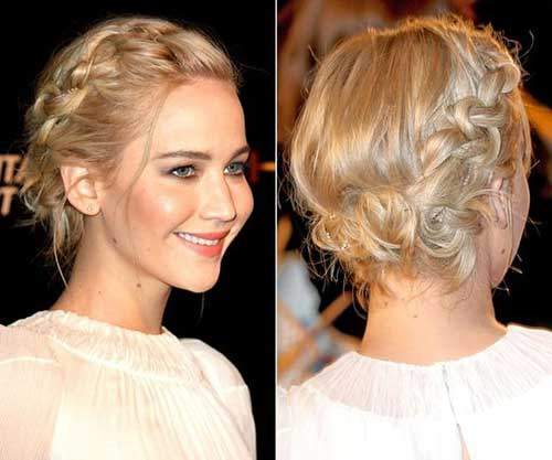 Jennifer Lawrence Braided Short Hairstyle