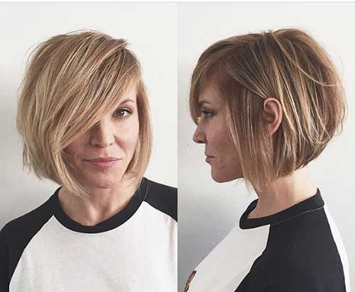 17 More Fresh Layered Short Hairstyles for Round Faces - crazyforus