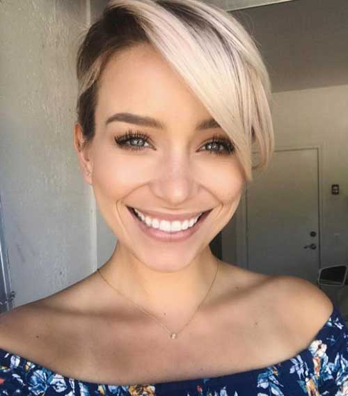 Long Pixie Short Haircuts for Round Faces