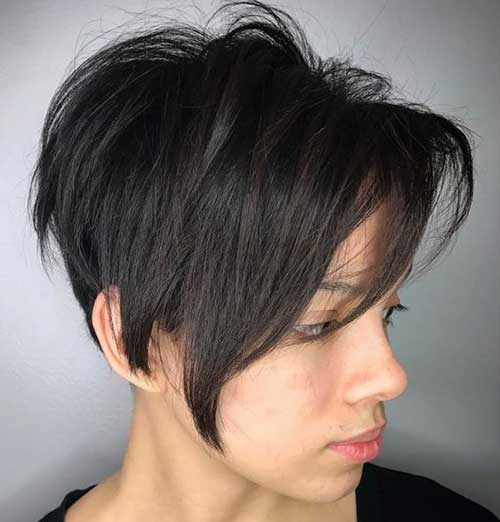 Layered Pixie Haircuts for Round Faces