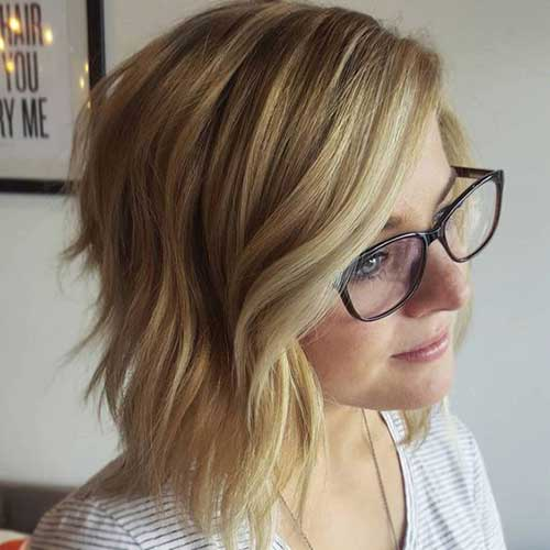 18 Fresh Layered Short Hairstyles for Round Faces - crazyforus
