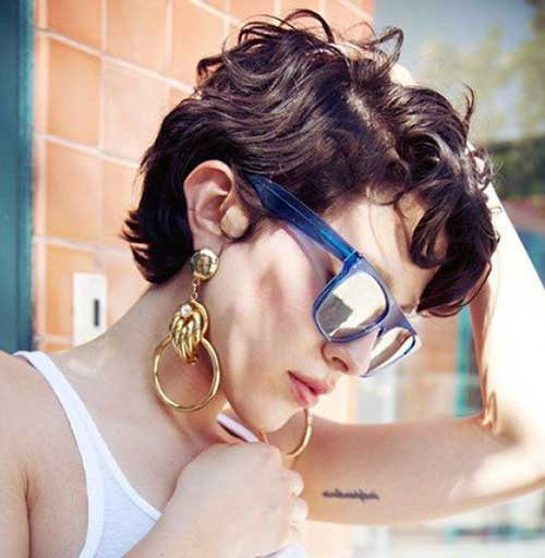 Karla Deras Short Curly Hairstyle