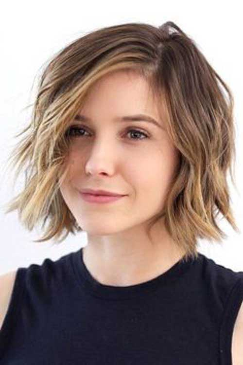 Short Hair for Round Face