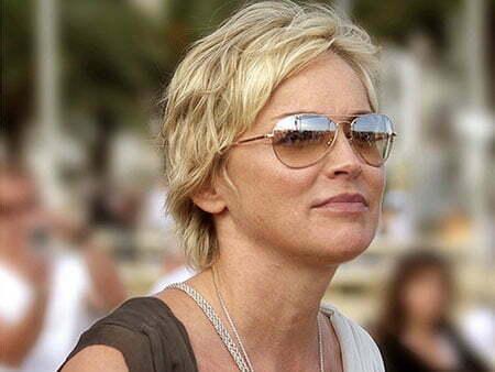23 New Sharon Stone Short Hairstyles Crazyforus