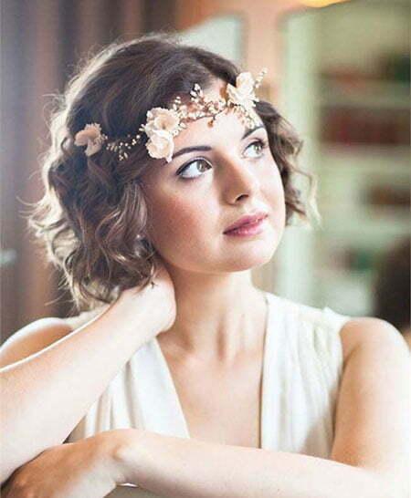 23 Bridal Hairstyles For Short Hair Crazyforus