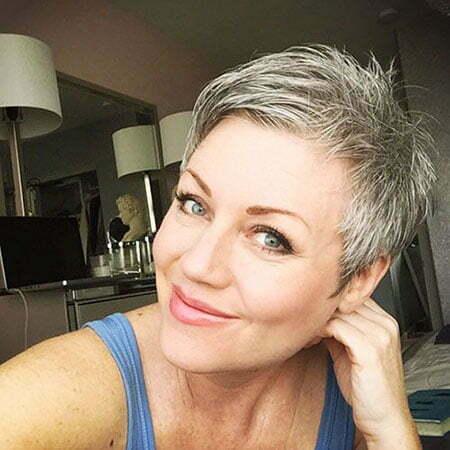 Grey Pixie Short Hair