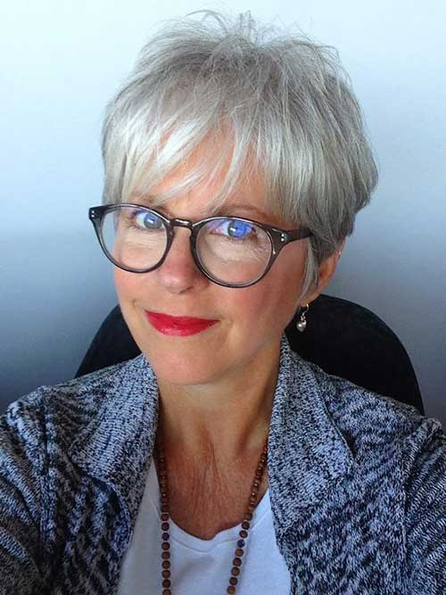 Classy Pixie Haircuts For Older Women