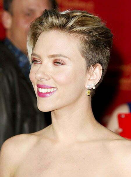 30 Scarlett Johansson Short Hairstyles Celebrity Short