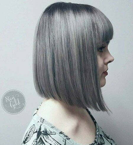 Gray Bob Balayage Hair