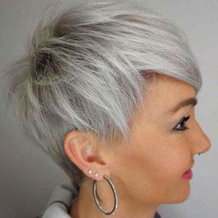23 Grey Short Hairstyles 2018