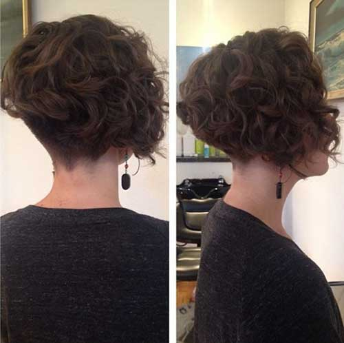 Inverted Short Curly Hair