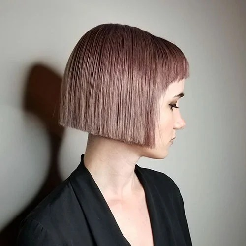 Short Blunt Bob With Bangs