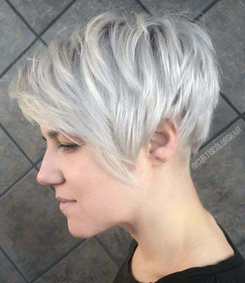 Ash Blonde Short Hair