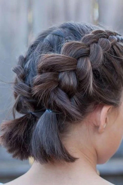 French Braid Hairstyles For Short Hair