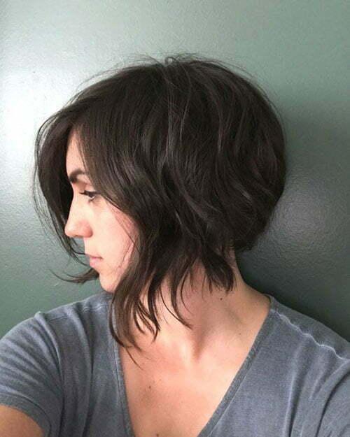 Short Dark Brown Hair-6