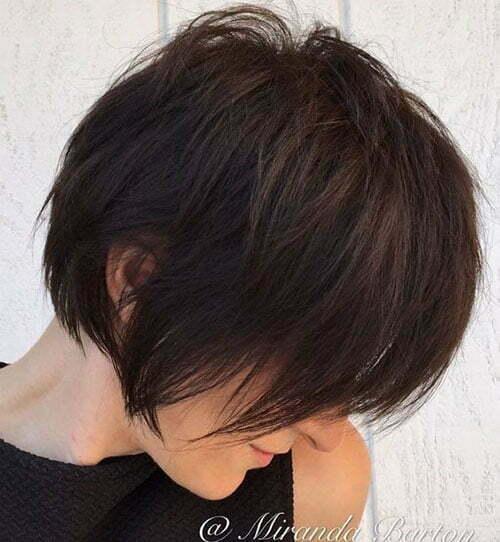 Short Dark Brown Hair-8