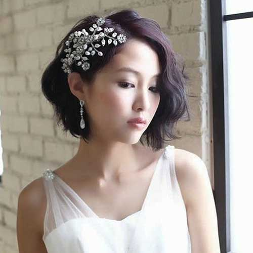BEST SHORT HAIRSTYLES FOR WEDDING YOU SHOULD SEE; #WeddingHairstyle #ShortHairstyle #ShortHair #BridalHairstyle