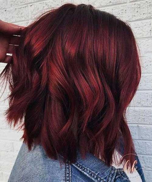 Dark Hair Color Trends 2019: LATEST TREND HAIR COLOR IDEAS FOR SHORT HAIR
