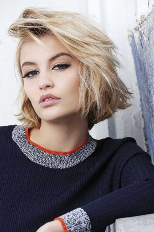 Modern Short Blonde Messy Hairstyles